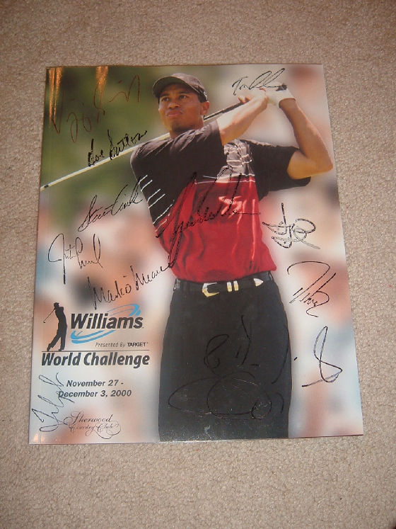 examples of tiger woods autograph